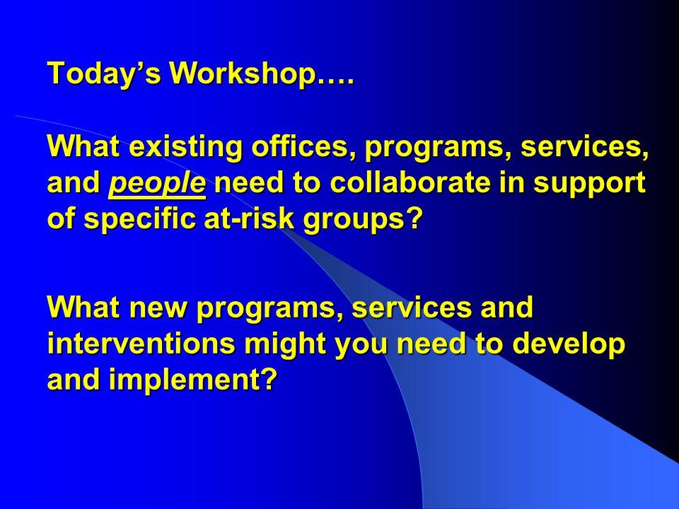 Today's Workshop….