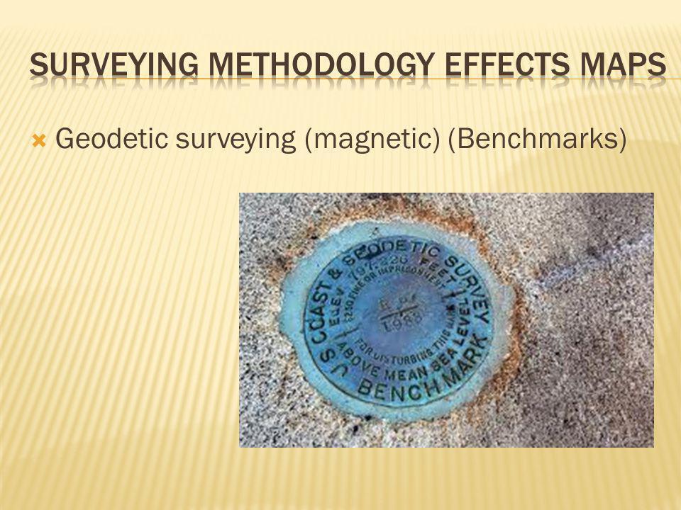  Geodetic surveying (magnetic) (Benchmarks)