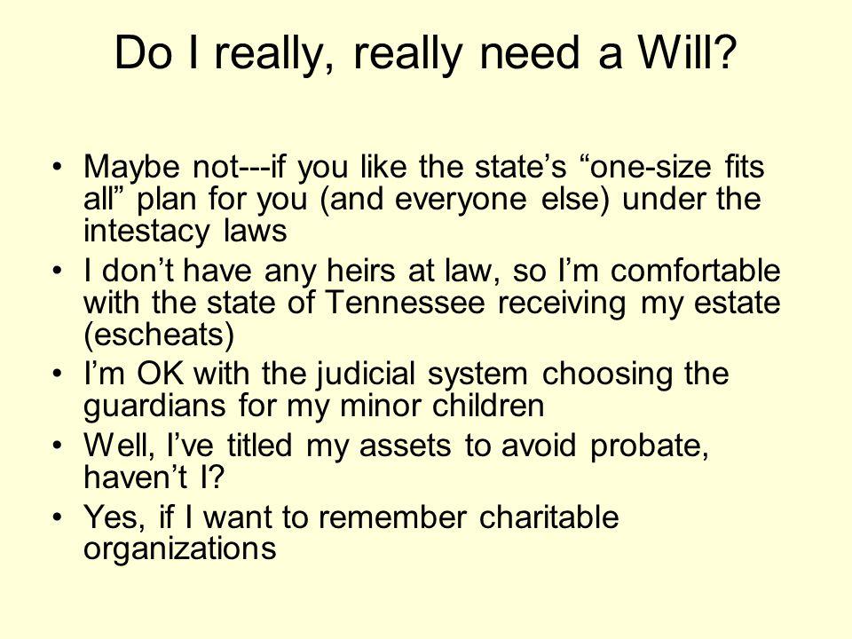Do I really, really need a Will.