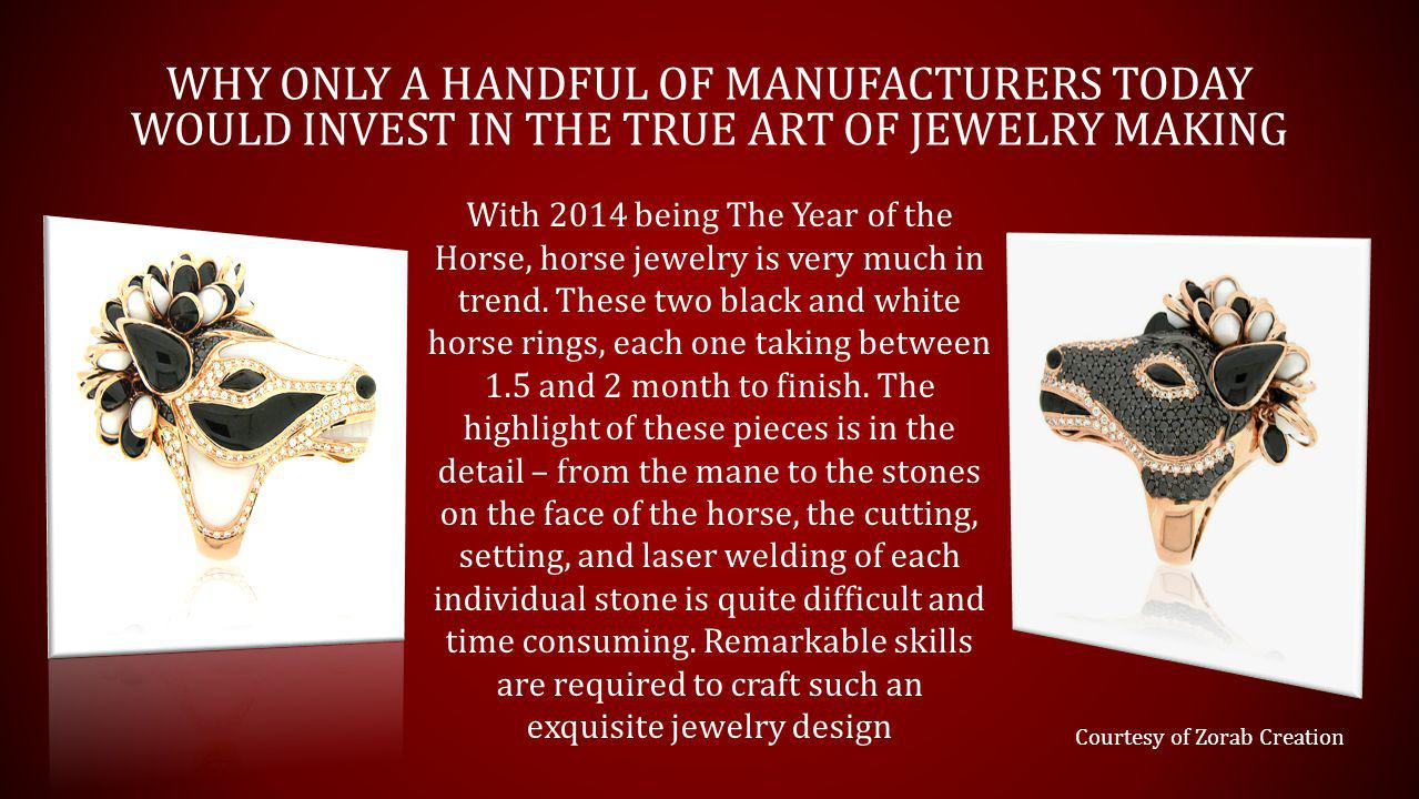 Courtesy of Zorab Creation With 2014 being The Year of the Horse, horse jewelry is very much in trend.