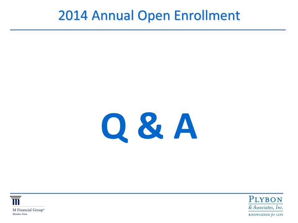 2014 Annual Open Enrollment Q & A