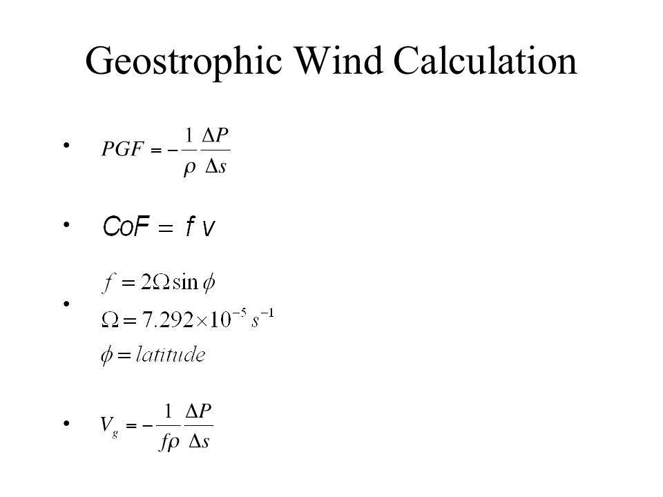 Geostrophic Wind Calculation