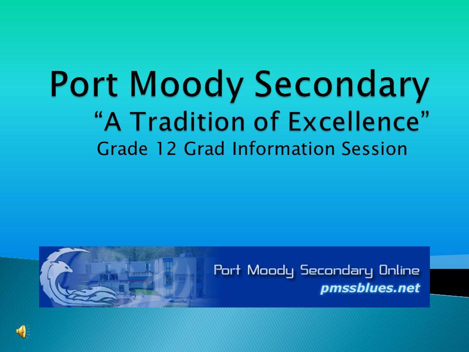 Grade 12 Grad Information Session