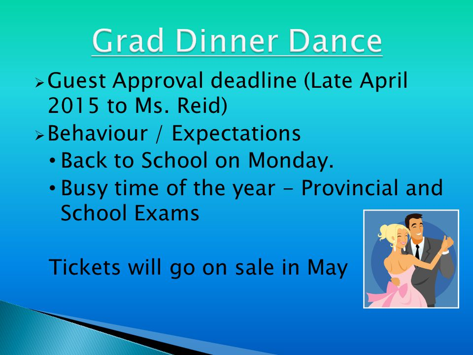  Guest Approval deadline (Late April 2015 to Ms.