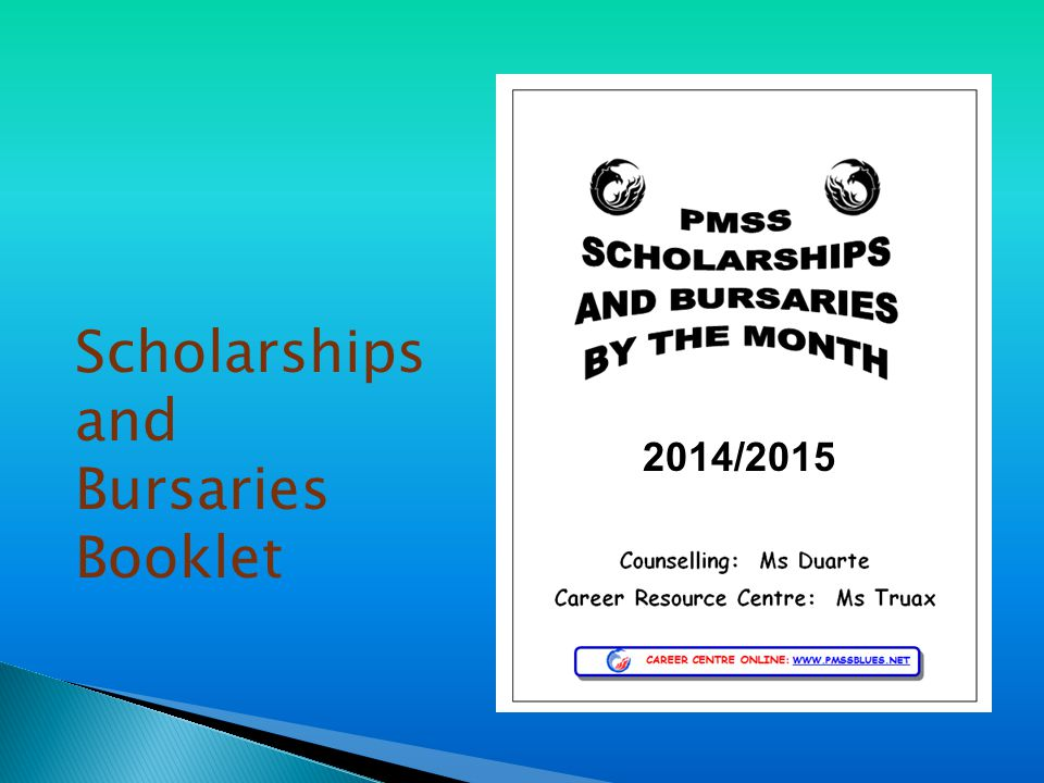 Scholarships and Bursaries Booklet 2014/2015