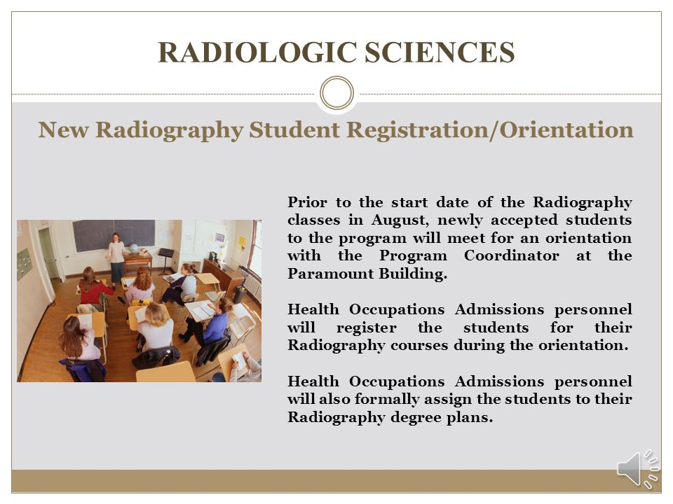RADIOLOGIC SCIENCES How are students notified of acceptance.