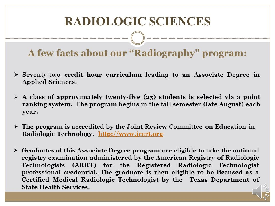 RADIOLOGIC SCIENCES Where are Radiographers employed.