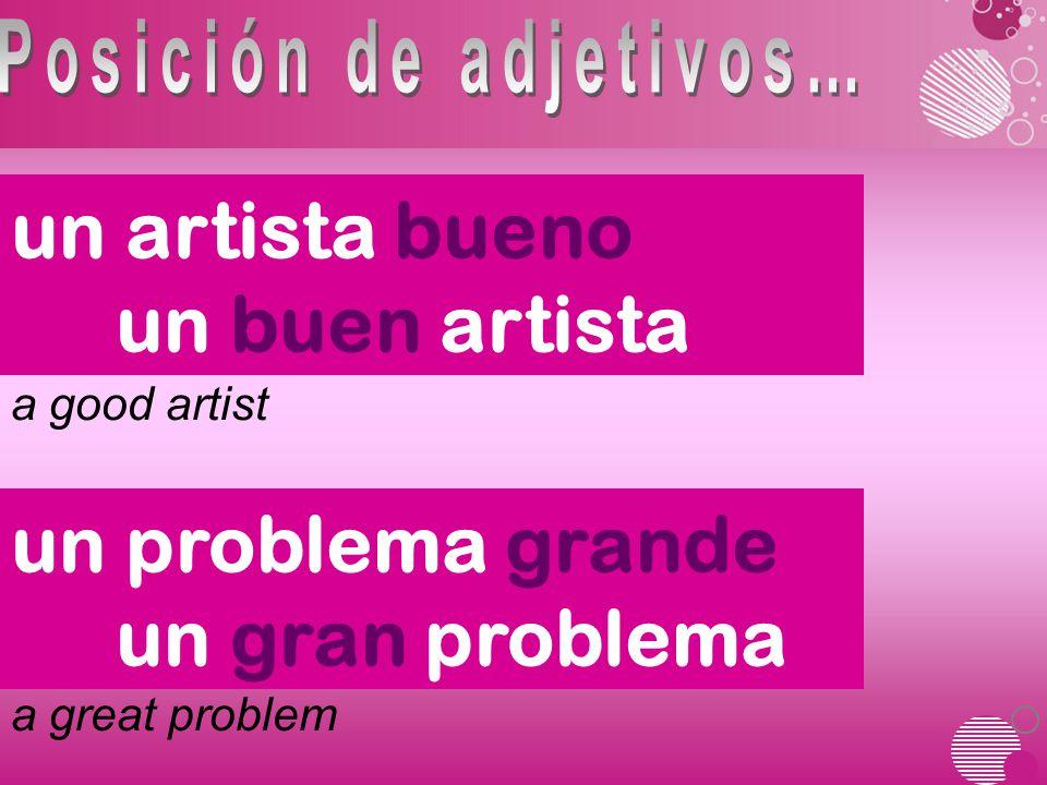 a good artist a great problem un artista bueno un buen artista un problema grande un gran problema