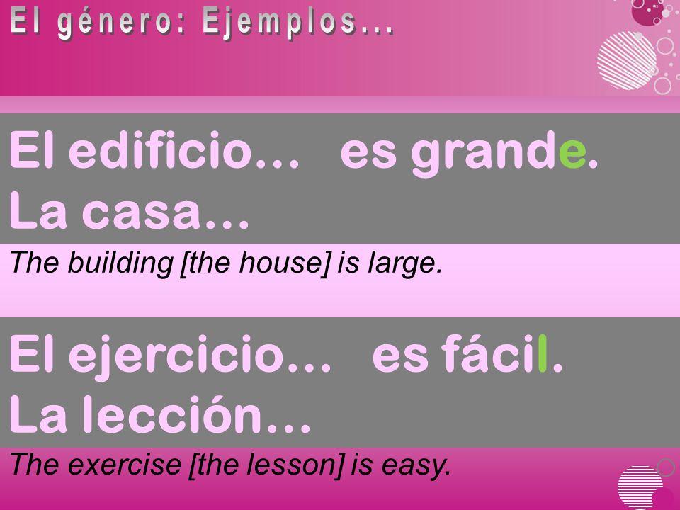 A few adjectives have shortened forms when they precede a masculine singular noun: bueno good buen bad first third malomal primeroprimer tercero tercer