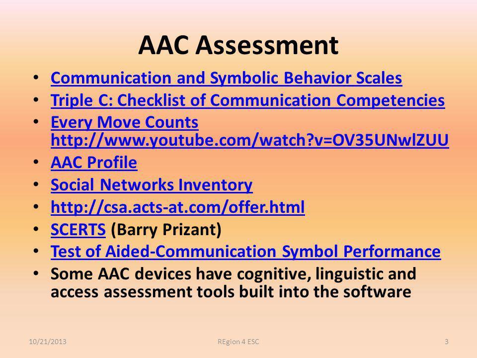 LOW TECH AAC 2013Region 4 ESC14