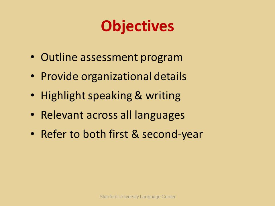 How to Evaluate OnDAs on a credit/no credit basis individual feedback after every OnDA rated according to how the task is performed or, instead, how severely the communication is impeded assessment criteria: a series of questions, based upon the ACTFL guidelines for speaking and writing Stanford University Language Center OnDAs – Sara Gelmetti