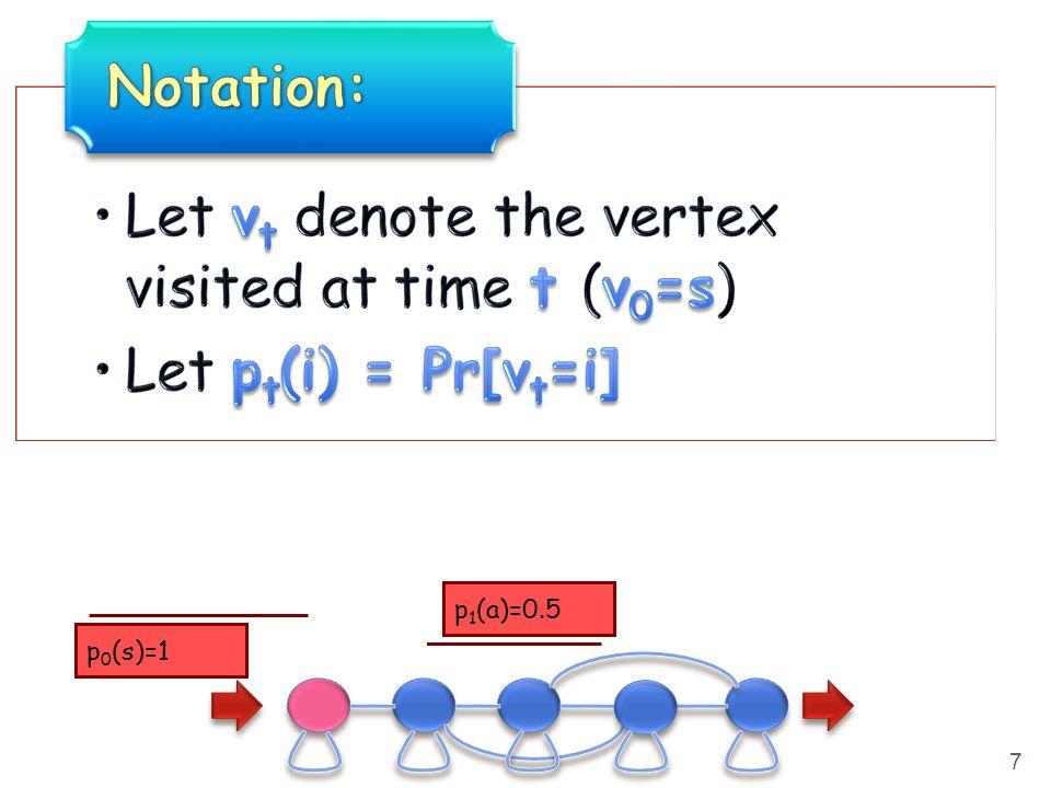 7 p 0 (s)=1 p 1 (a)=0.5