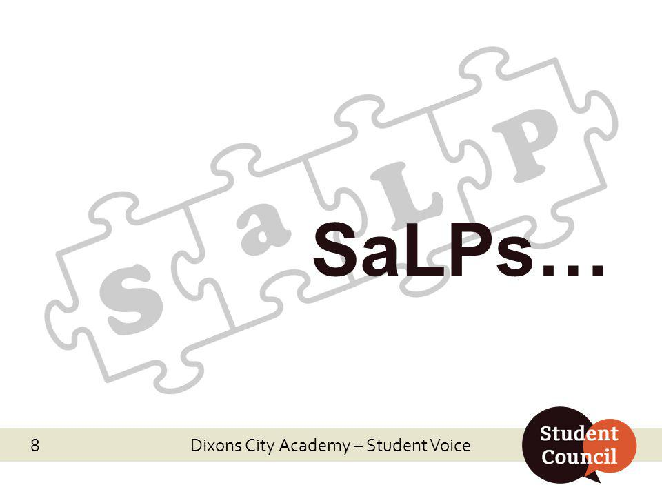 SaLPs… Dixons City Academy – Student Voice 8