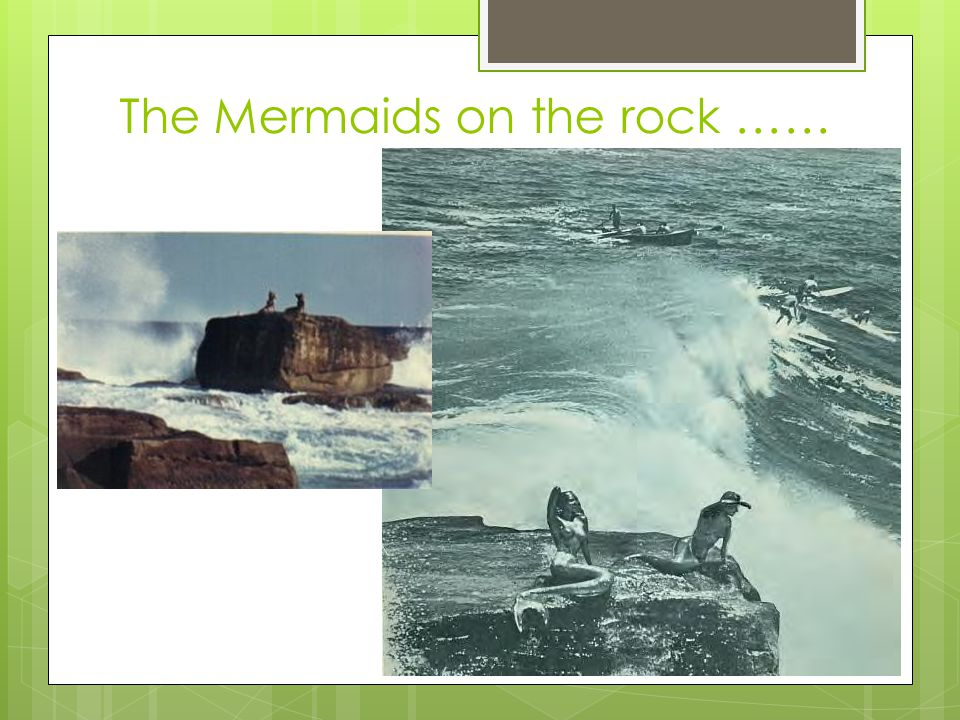 Only the remains of one of the mermaids is still in existence.