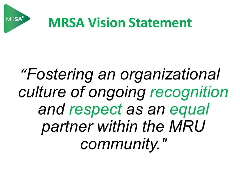 How The MRSA Fits In… Our Students MRSA MRFA SAMRU MRU a complex system