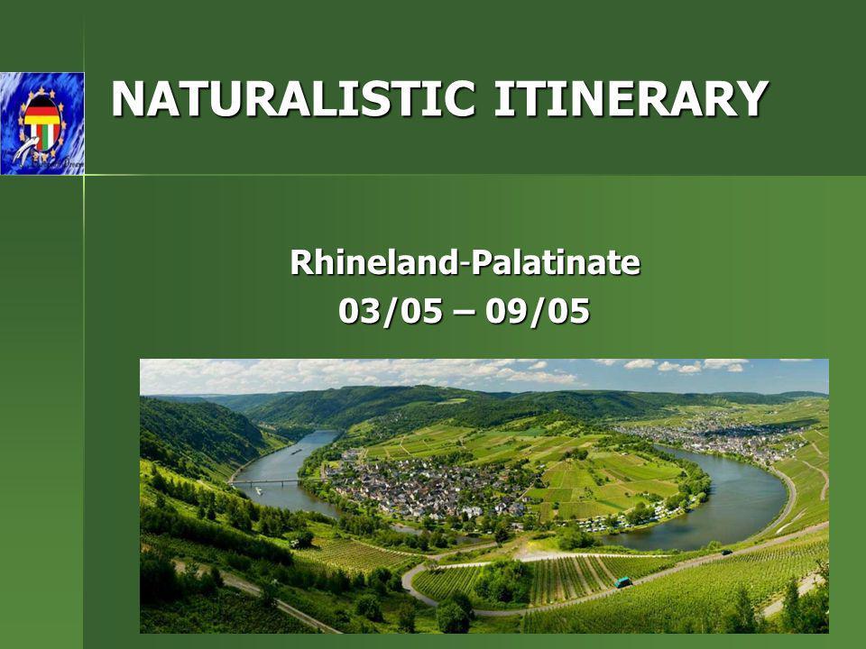 NATURALISTIC ITINERARY Rhineland-Palatinate 03/05 – 09/05