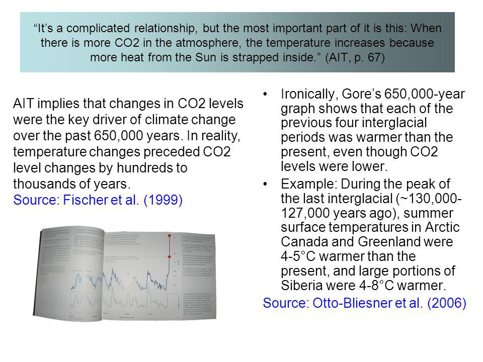 """It's a complicated relationship, but the most important part of it is this: When there is more CO2 in the atmosphere, the temperature increases becau"