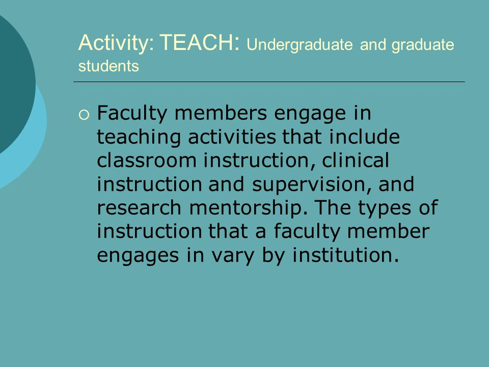 Activity: SERVICE  Faculty members are expected to provide service to the department, to the university, and to the community.