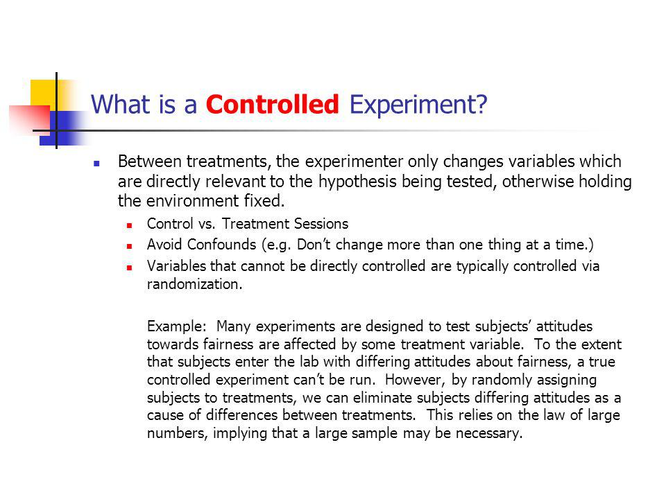 Designing an Experiment Identify an interesting question or questions.