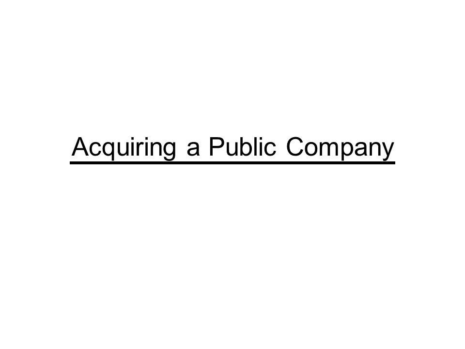 Acquiring a Public Company
