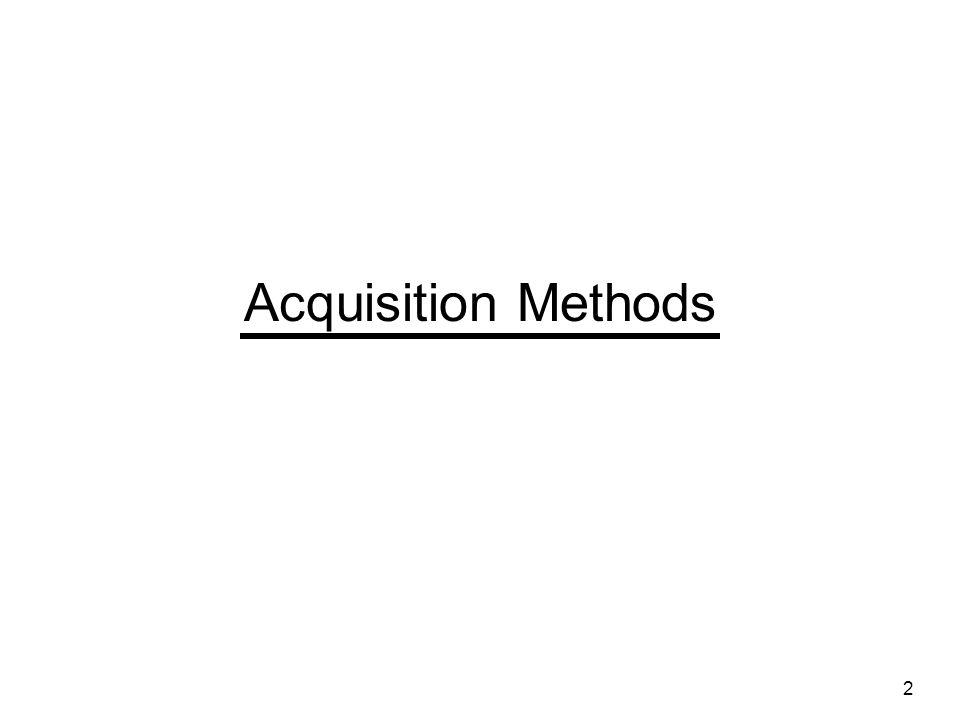 Acquisition Methods 2
