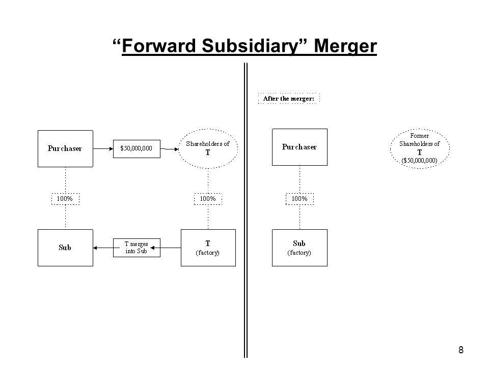 9 Reverse Subsidiary Merger