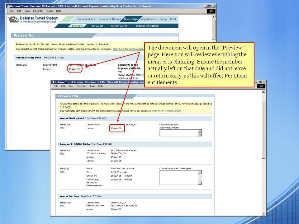 Verify Method of Reimbursement (Personal or GOVCC).