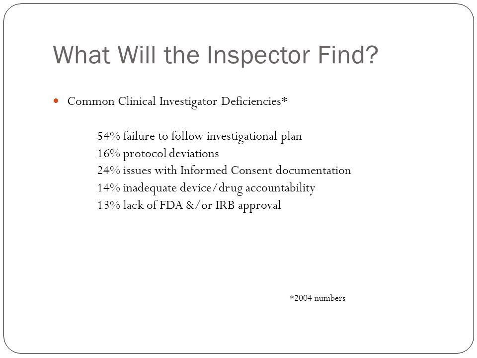 What Will the Inspector Find.