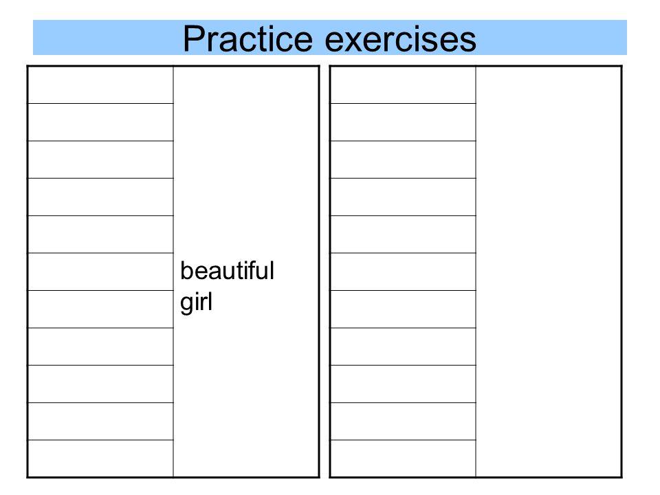 Practice exercises beautiful girl