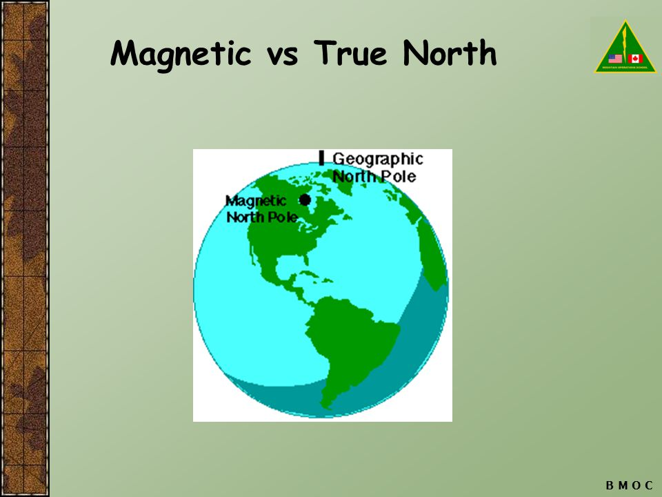 B M O C Magnetic vs True North