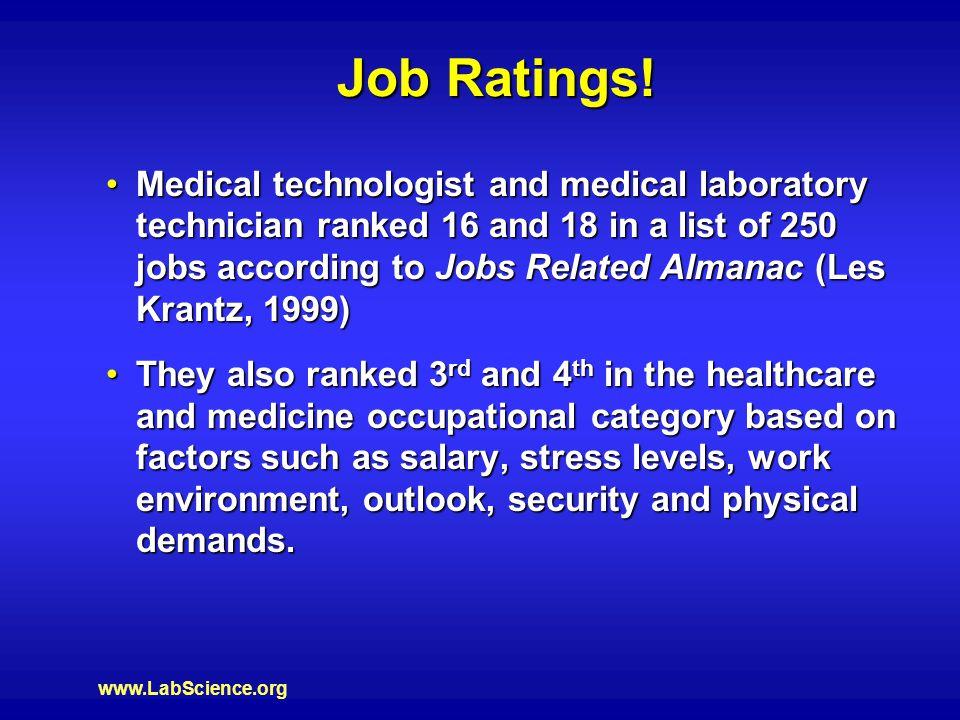www.LabScience.org Job Ratings.