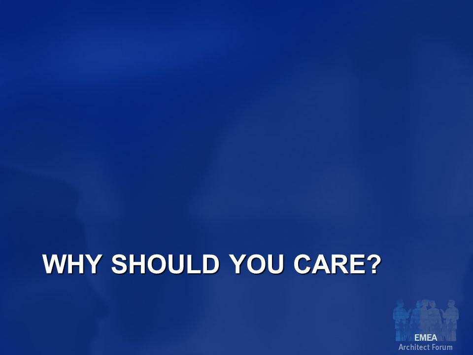 EMEA WHY SHOULD YOU CARE