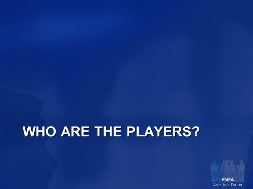 EMEA WHO ARE THE PLAYERS
