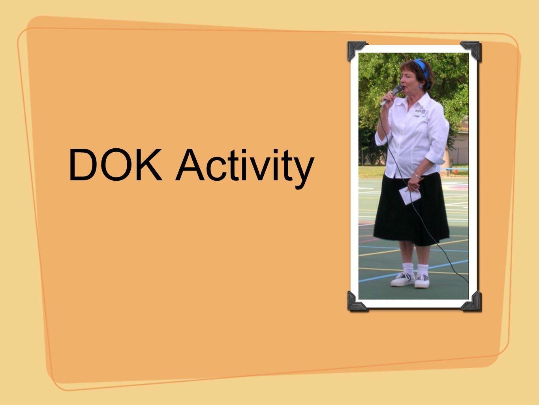 DOK Activity
