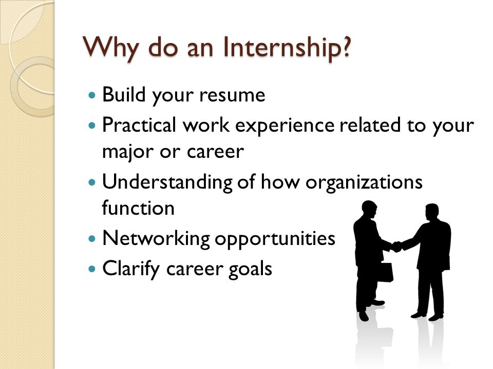 Why do an Internship.