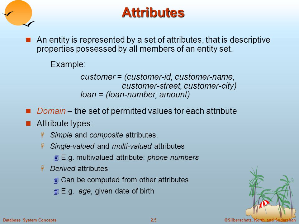 ©Silberschatz, Korth and Sudarshan2.6Database System Concepts Composite Attributes