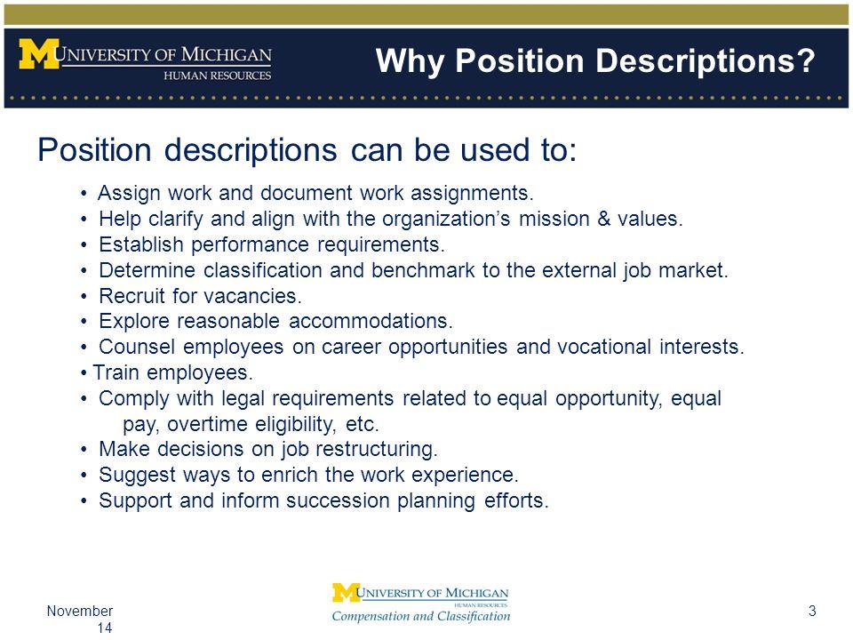 3November 14 Why Position Descriptions.