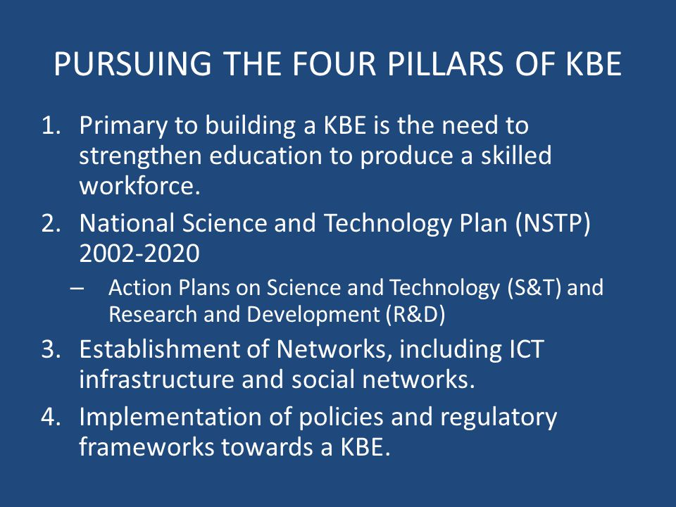 Transforming the Philippines Into KBE A STRATEGIC ROADMAPPING