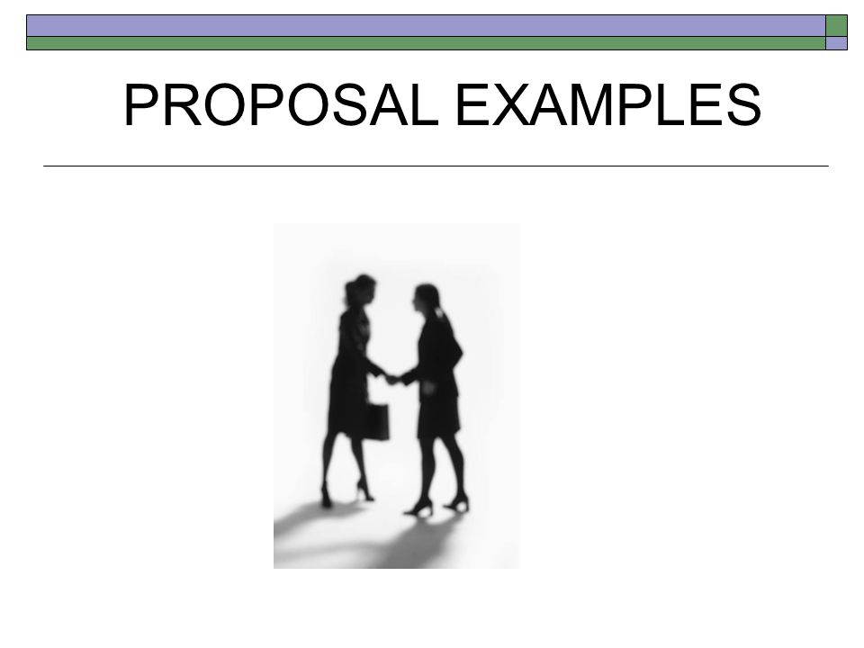 PROPOSAL EXAMPLES