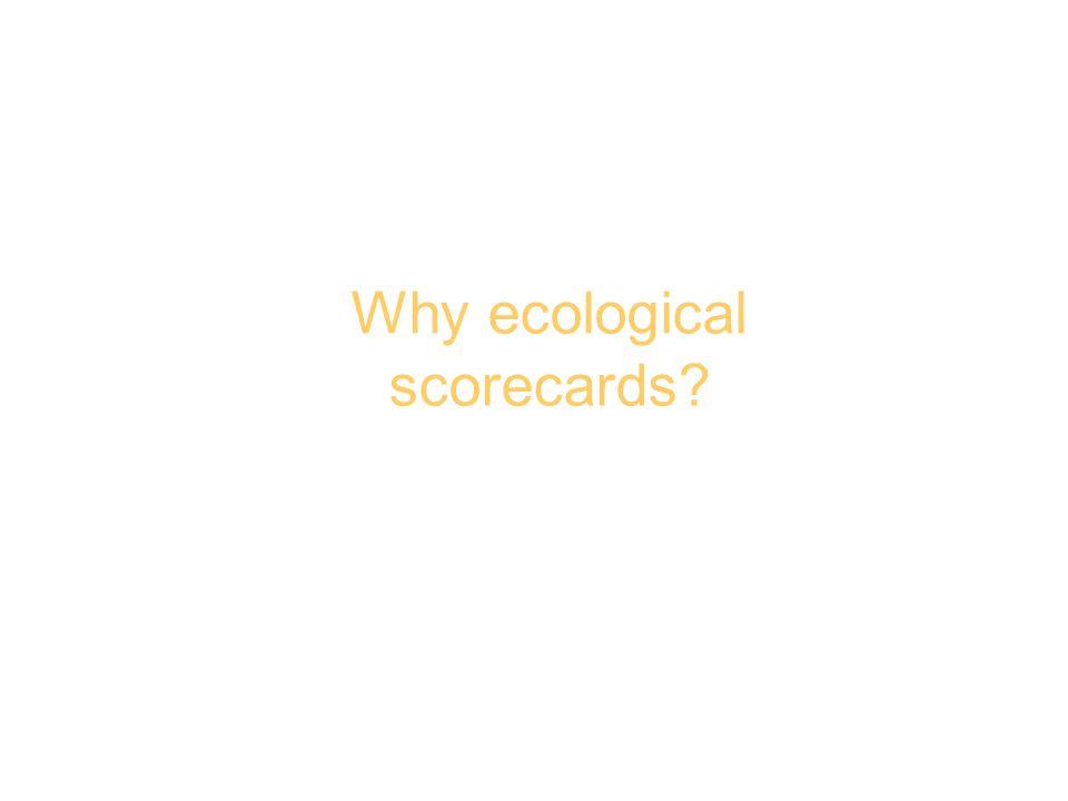 Why ecological scorecards?