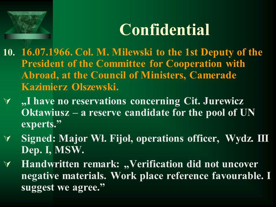 Confidential 10.16.07.1966. Col. M.