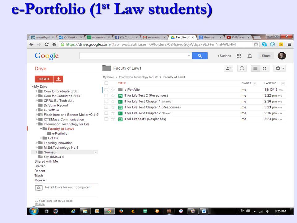 e-Portfolio (1 st Law students) 43