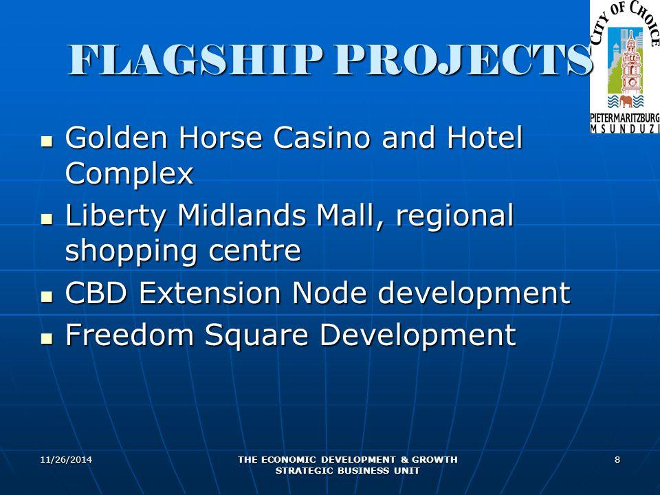 11/26/2014 THE ECONOMIC DEVELOPMENT & GROWTH STRATEGIC BUSINESS UNIT 8 FLAGSHIP PROJECTS Golden Horse Casino and Hotel Complex Golden Horse Casino and