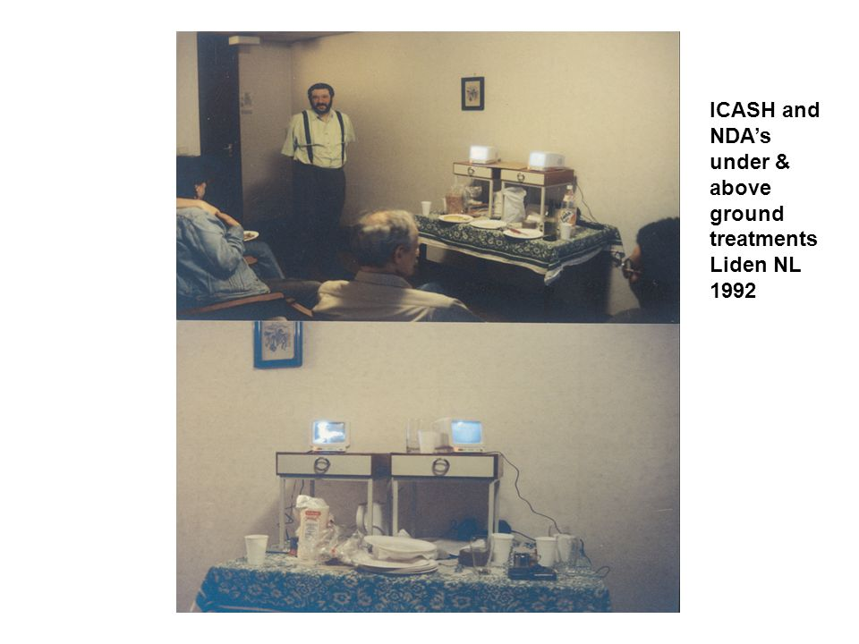 ICASH and NDA's under & above ground treatments Liden NL 1992