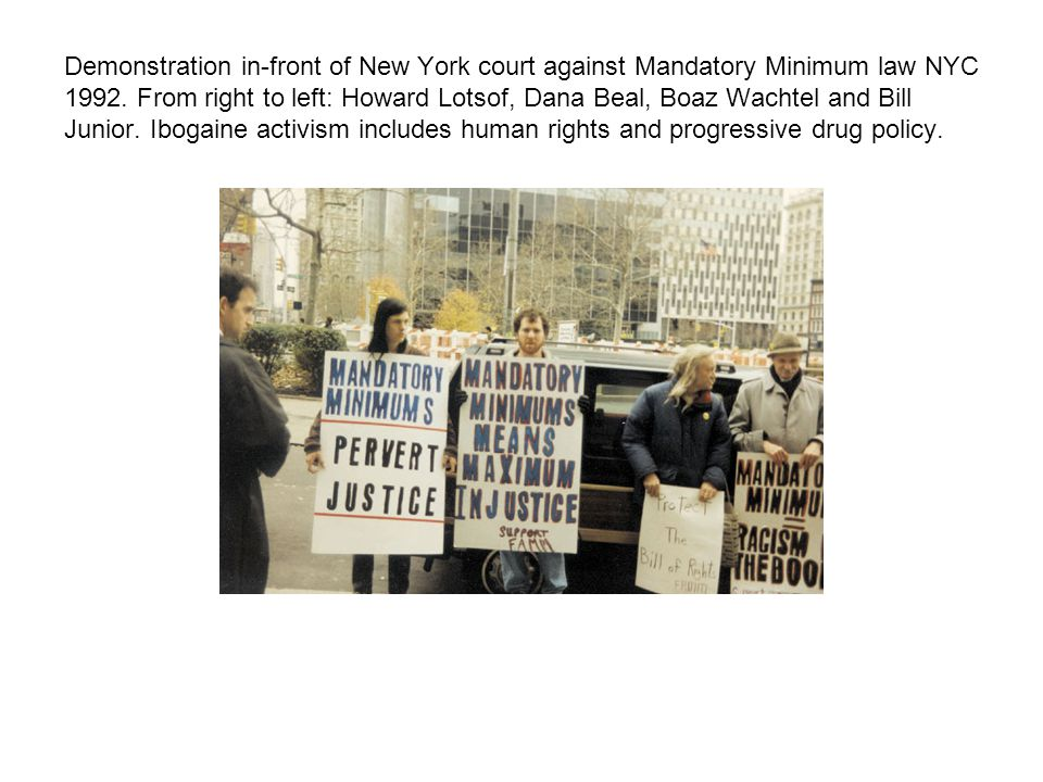 Demonstration in-front of New York court against Mandatory Minimum law NYC 1992.