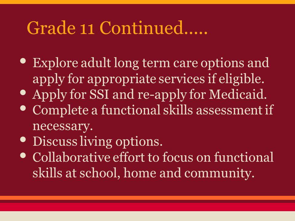 Grade 11 Continued.....