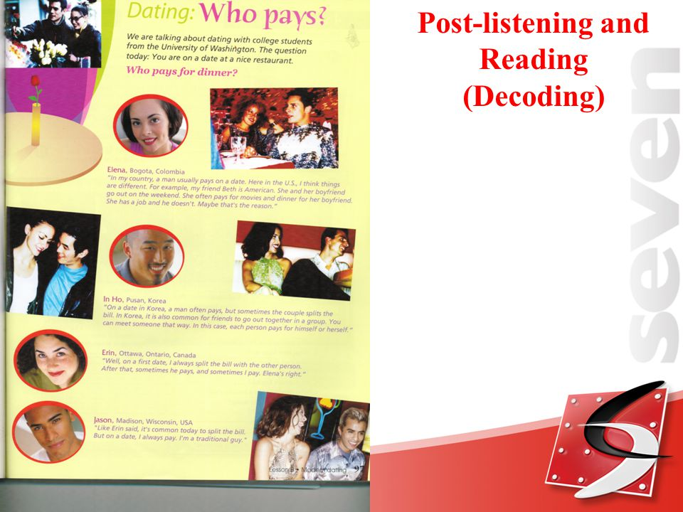 Post-listening and Reading (Decoding)