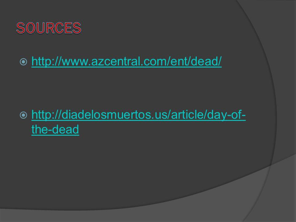  http://www.azcentral.com/ent/dead/ http://www.azcentral.com/ent/dead/  http://diadelosmuertos.us/article/day-of- the-dead http://diadelosmuertos.us/article/day-of- the-dead