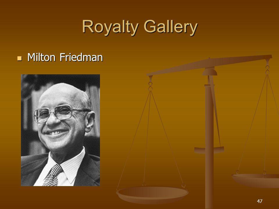 47 Royalty Gallery Milton Friedman Milton Friedman