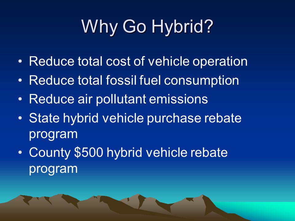 2005 Cost Comparison: Toyota Prius vs Dodge Stratus Toyota Prius Annual Depr: $2995 MPG: 48 Fuel($1.75)$547 Fuel($2.50)$781 Total($1.75)$3542 Total($2.50)$3776 Dodge Stratus Annual Depr:$2398 MPG:17 Fuel($1.75)$1544 Fuel ($2.50)$2205 Total ($1.75)$3942 Total ($2.50)$4603